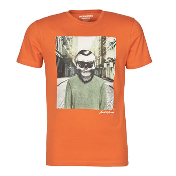 Textiel Heren T-shirts korte mouwen Jack & Jones JORSKULLING Orange