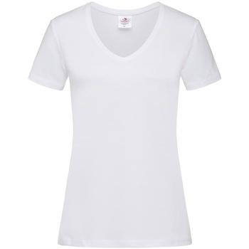 Textiel Dames T-shirts korte mouwen Stedman  Wit