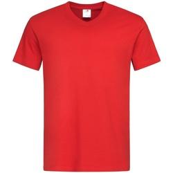 Textiel Heren T-shirts korte mouwen Stedman  Rood