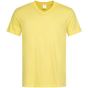 Textiel Heren T-shirts korte mouwen Stedman  Geel