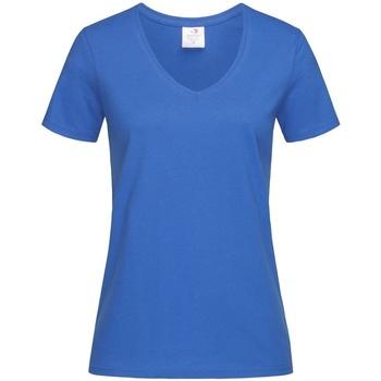 Textiel Dames T-shirts korte mouwen Stedman  Blauw