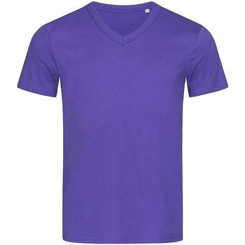 Textiel Heren T-shirts korte mouwen Stedman Stars  Paars