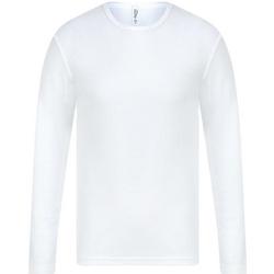 Textiel Heren T-shirts met lange mouwen Absolute Apparel  Wit