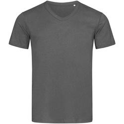 Textiel Heren T-shirts korte mouwen Stedman Stars  Donkergrijs