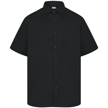 Textiel Heren Overhemden korte mouwen Absolute Apparel  Zwart