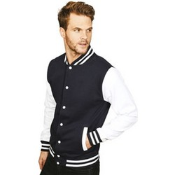 Textiel Heren Wind jackets Casual Classics  Navy/Wit