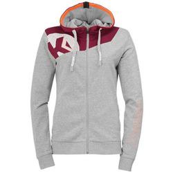 Textiel Dames Sweaters / Sweatshirts Kempa Veste femme  Core 2.0 gris foncé chiné/rouge