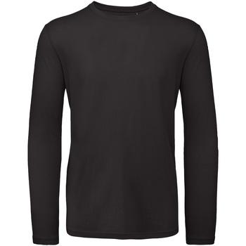 Textiel Heren T-shirts met lange mouwen B And C TM070 Zwart
