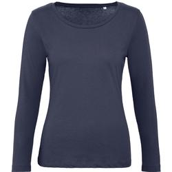 Textiel Dames T-shirts met lange mouwen B And C TW071 Stedelijke Marine