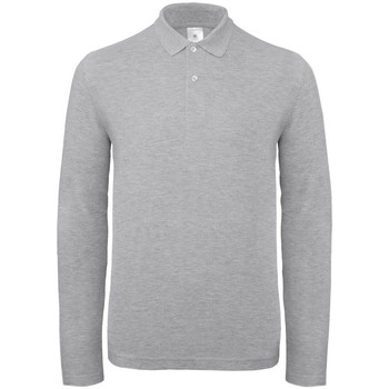 Textiel Heren Polo's lange mouwen B And C PUI12 Taupe Grijs