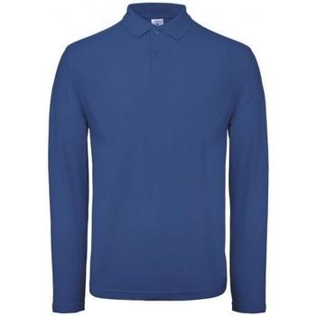 Textiel Heren Polo's lange mouwen B And C PUI12 Vorstelijk blauw