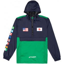 Textiel Heren Windjacken Huf Jacket flags anorak Blauw