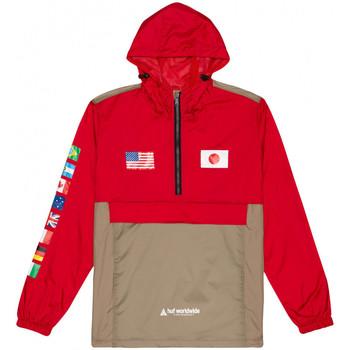 Textiel Heren Windjacken Huf Jacket flags anorak Rood