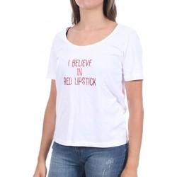Textiel Dames T-shirts korte mouwen Pieces  Wit