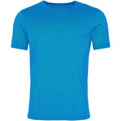 Textiel Heren T-shirts korte mouwen Awdis JT099 Gewassen Saphire Blue