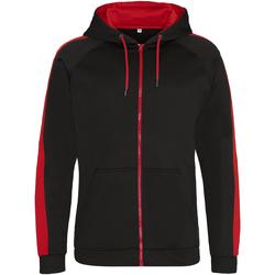 Textiel Heren Sweaters / Sweatshirts Awdis JH066 Straalzwart / vuurrood
