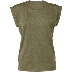 Textiel Dames T-shirts korte mouwen Bella + Canvas BE8804 Heide Olijf