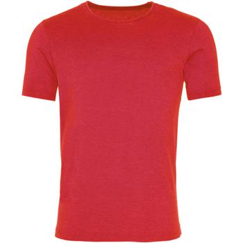 Textiel Heren T-shirts korte mouwen Awdis JT099 Gewassen vuur rood
