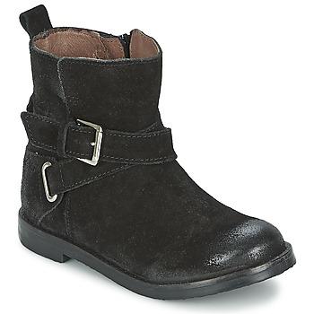 Schoenen Meisjes Laarzen Aster NINON Zwart