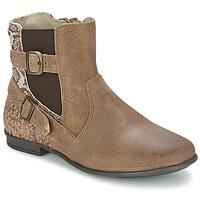 Schoenen Meisjes Laarzen Aster DESIA Taupe / Imprimé