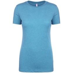 Textiel Dames T-shirts korte mouwen Next Level NX6710 Vintage Turquoise