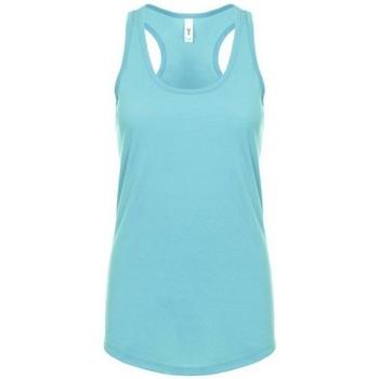 Textiel Dames Mouwloze tops Next Level NX1533 Tahiti Blauw