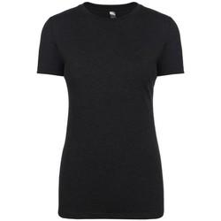 Textiel Dames T-shirts korte mouwen Next Level NX6710 Vintage Zwart