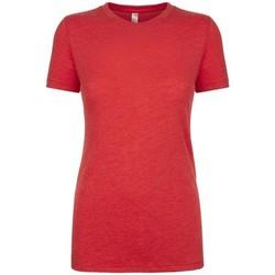 Textiel Dames T-shirts korte mouwen Next Level NX6710 Vintage Rood