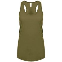 Textiel Dames Mouwloze tops Next Level NX1533 Militair Groen
