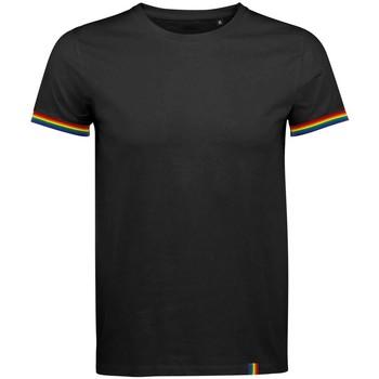 Textiel Heren T-shirts korte mouwen Sols 03108 Diep zwart/multikleurig