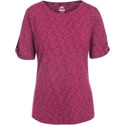 Textiel Dames T-shirts korte mouwen Trespass  Bordeaux Rood