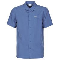 Textiel Heren Overhemden korte mouwen Columbia LAKESIDE TRAIL Blauw
