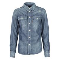 Textiel Dames Overhemden G-Star Raw KICK BACK WORKER SHIRT WMN L\S Blauw / Medium