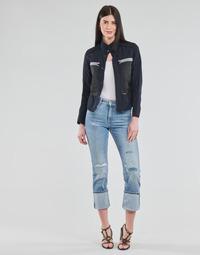 Textiel Dames Straight jeans G-Star Raw NOXER HIGH STRAIGHT WMN Blauw