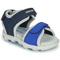 Schoenen Jongens Sandalen / Open schoenen Geox B SANDAL PIANETA Blauw