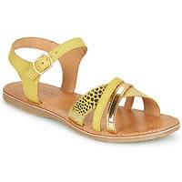 Schoenen Sandalen / Open schoenen Geox J SANDAL EOLIE GIRL Geel / Goud