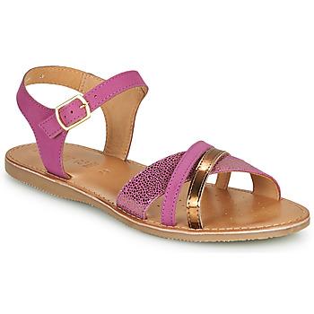 Schoenen Meisjes Sandalen / Open schoenen Geox J SANDAL EOLIE GIRL Roze / Goud
