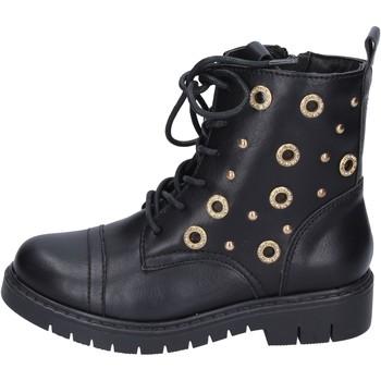 Schoenen Meisjes Enkellaarzen Joli Bottines BK242 Noir