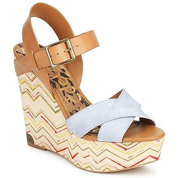 Schoenen Dames Sandalen / Open schoenen Sam Edelman SASHA Denim-washed