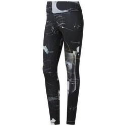 Textiel Dames Leggings Reebok Sport Wor Aop Tight Noir