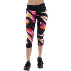 Textiel Dames Broeken / Pantalons Asics 34 Fuzex Knee Tight Noir, Rose