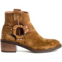 Schoenen Dames Enkellaarzen Alpe 4444 Brown