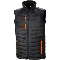 Textiel Heren Dons gevoerde jassen Result R238X Zwart/Oranje