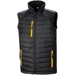 Textiel Heren Jacks / Blazers Result R238X ZWART/GEEL