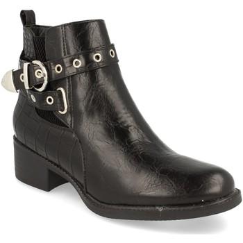 Schoenen Dames Enkellaarzen H&d YZ19-218 Negro