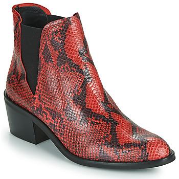 Schoenen Dames Laarzen Fericelli  Zwart / Rood