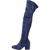 Schoenen Dames Laarzen Accademia stivali velluto Blu