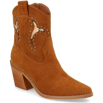 Schoenen Dames Enkellaarzen Prisska TY1063 Camel