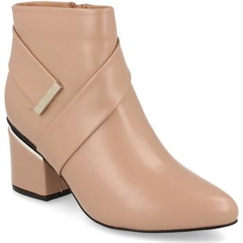 Schoenen Dames Enkellaarzen Prisska Y5675 Nude