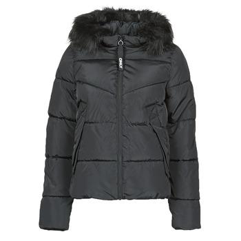 Textiel Dames Dons gevoerde jassen Only ONLMONICA Zwart